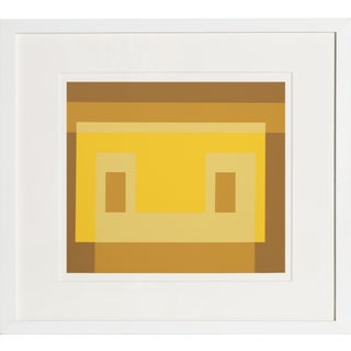 Josef Albers - Portfolio 1, Folder 30, Image 1 Framed Silkscreen For Sale