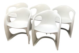 Image of White Side Chairs