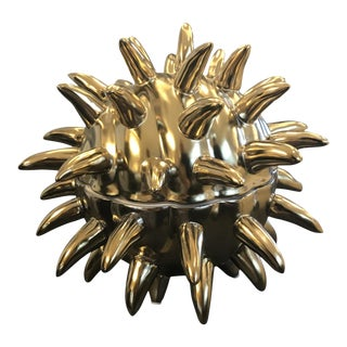 Gold Sea Urchin Lidded Box For Sale
