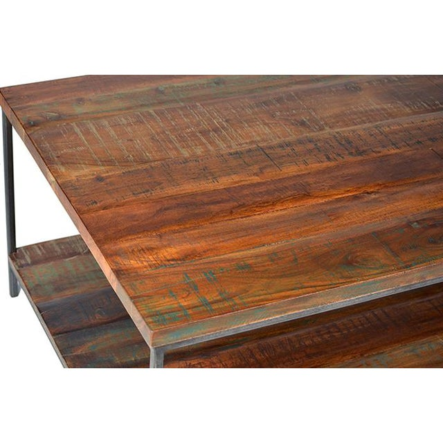 Reclaimed wood iron coffee table chairish for Buy reclaimed wood los angeles