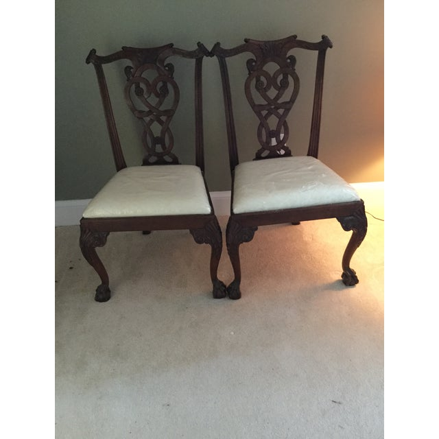 Maitland-Smith Mahogany Side or Accent Chairs- A Pair - Image 7 of 7
