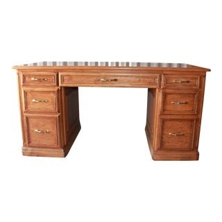 Custom Mahogany Executive Office Desk