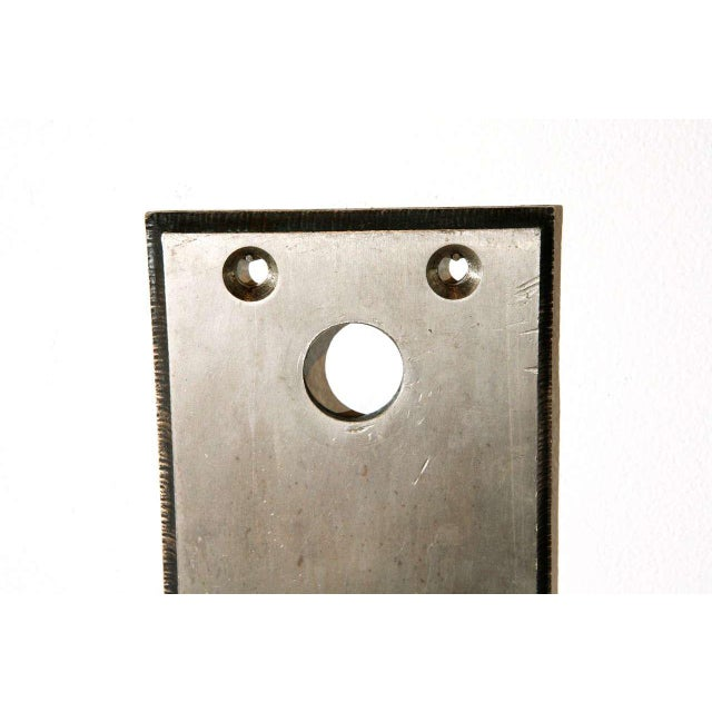 Fantastic nickel-plated brass doorplates with a decorative beveled edge and integrated pull handle. Great for use in a...