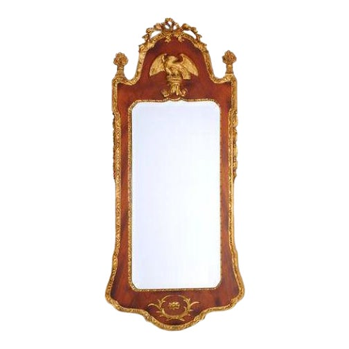 Mid 20th Century Federal Style Parcel Gilt Mahogany Mirror For Sale