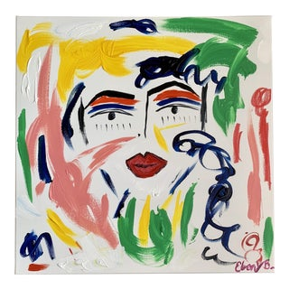 """""""Pout"""" Abstract Face Painting For Sale"""