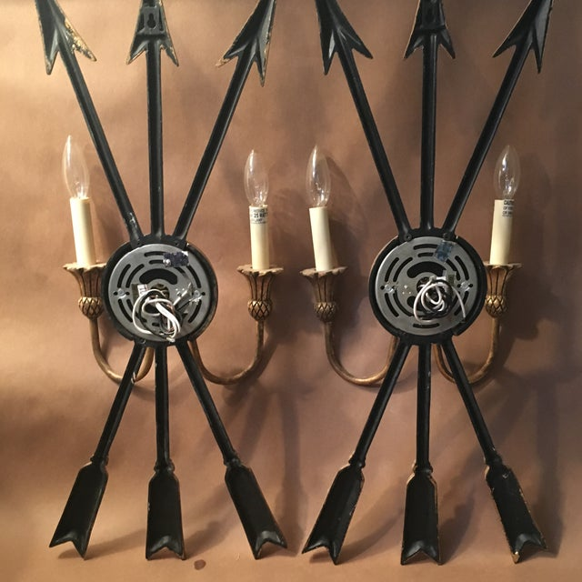 Neoclassical Arrow Sconces - A Pair - Image 7 of 8