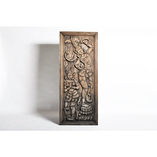 Southeast Asian Wood Carving of a Goddess For Sale - Image 13 of 13