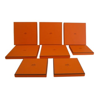Authentic Hermes Storage Box Collection - Set of 8