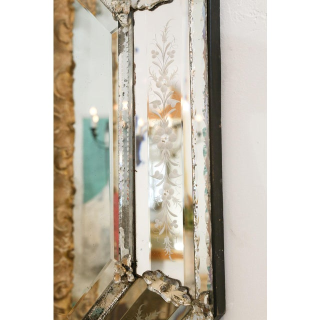 Silver Octagonal Venetian Mirror For Sale - Image 8 of 12