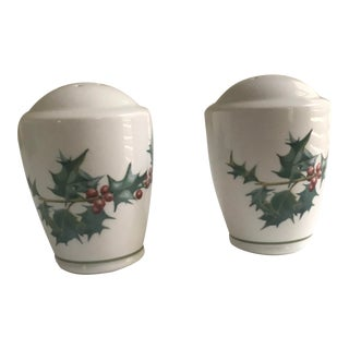 Christmas Salt & Pepper Shaker by Noritake - a Pair For Sale