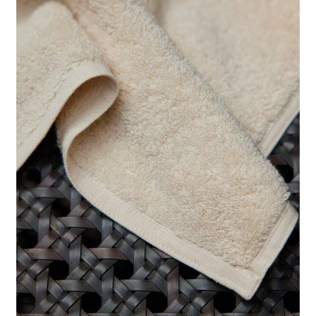 Plush & Bare Handmade Organic Cotton Face Cloth in Ecru For Sale - Image 4 of 5