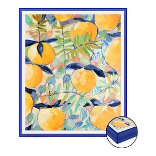 Orchard 1 by Lulu DK in Royal Blue Acrylic Shadowbox, Medium Art Print