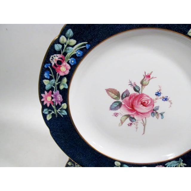 Ceramic Antique Spode Copeland Billingsley Pink Rose Luncheon Plates - Set of 8 For Sale - Image 7 of 8