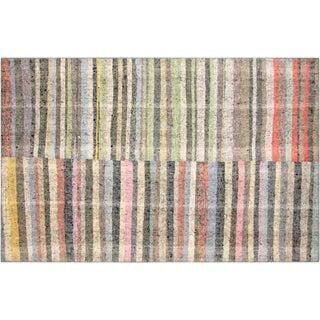 "Nalbandian - 1960s Turkish Striped Rag Kilim - 5'7"" X 8'10"" For Sale"