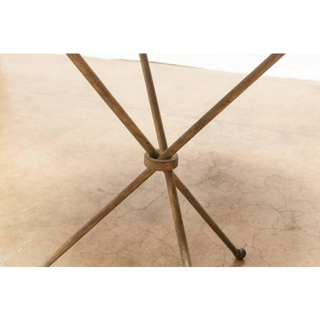 French Mid-Century Faux Marble Tripod Drink Table - Image 3 of 6