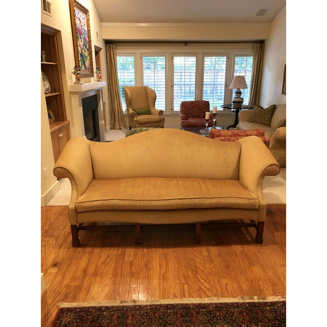 Wood 1980s Vintage Southwood Chippendale Style Sofa For Sale - Image 7 of 7