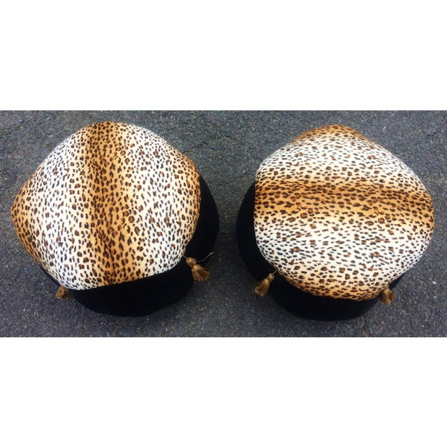 """We have a pleasure to offer you this Wild & Sexy PAIR of Modern Round Ottomans - Pouf Benches. The seats are """"drum""""..."""