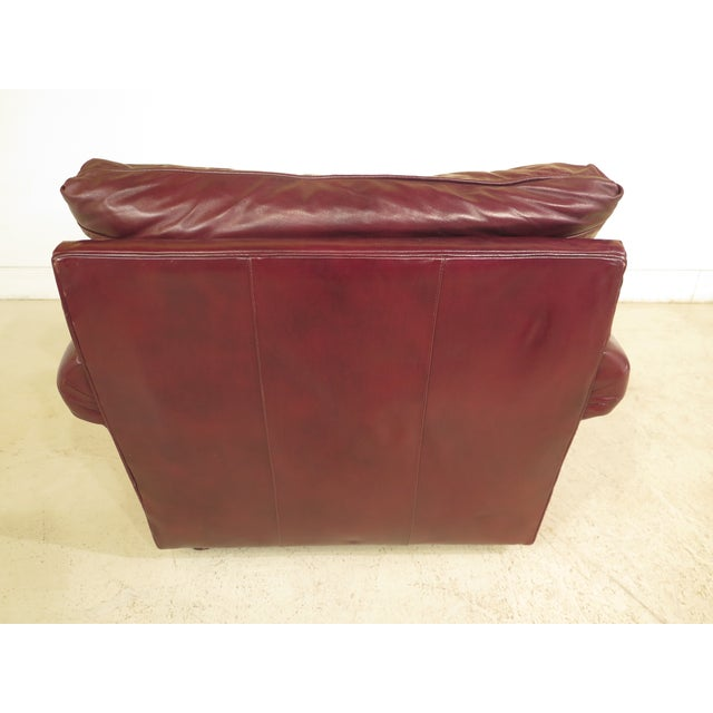 Burgundy Leather Club Chairs - A Pair - Image 8 of 13