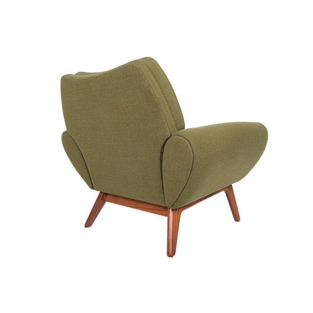 Johannes Andersen Lounge Chair in Olive - Image 7 of 11
