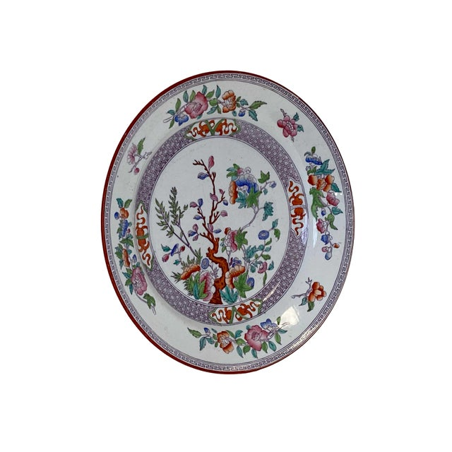19th Century Antique Minton Ironstone India Tree Plate For Sale - Image 5 of 9