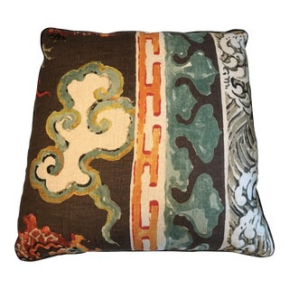 "Jim Thompson ""Enter the Dragons Border"" 22"" Pillow For Sale"