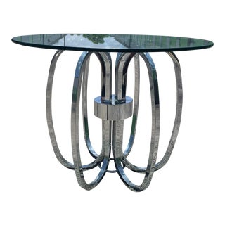 Milo Baughman DIA Chrome Spider End Table For Sale