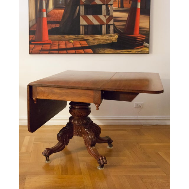 American Federal Drop-Leaf Mahogany Table Set - Image 6 of 7