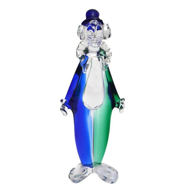 Signed Archimede Seguso Murano Art Glass Clown For Sale