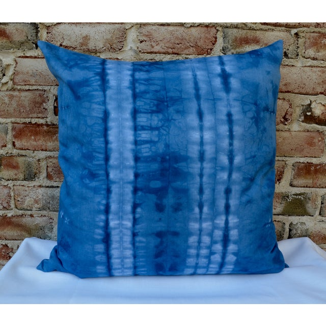 Indigo Blue Shibori Pillow - Image 2 of 5