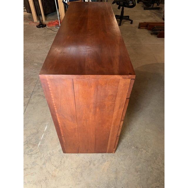 20th Century Cherry Eight Drawer Dresser For Sale - Image 4 of 6