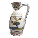 Image of Vintage Sigma Ceramic Pitcher Handmade and Decorated in Italy For Sale
