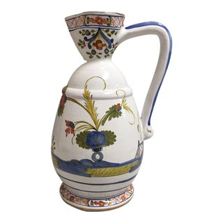 Vintage Sigma Ceramic Pitcher Handmade and Decorated in Italy For Sale