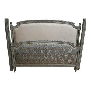 French Vintage Full Bed 1950 Louis XVI Style For Sale