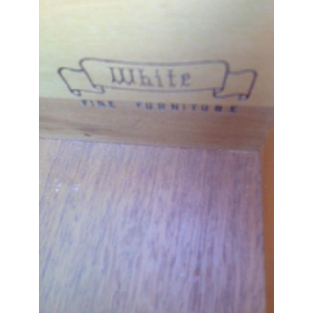 White Furn Hollywood Regency Nightstand - Pair For Sale - Image 5 of 6