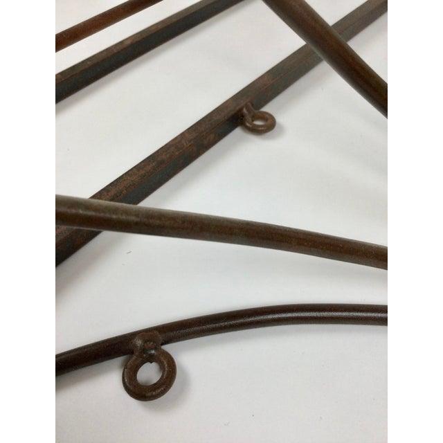 Vintage Steel Wall Pan Holder Shelf For Sale In Portland, ME - Image 6 of 13