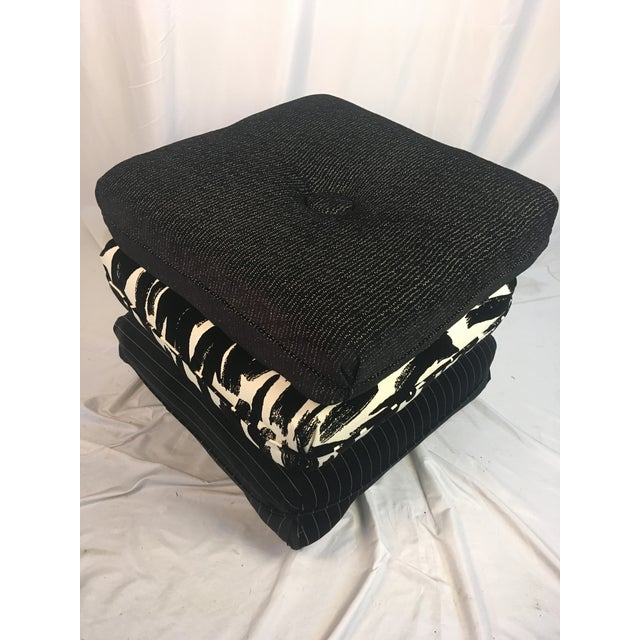 Contemporary Three Pillow Stool For Sale - Image 9 of 10