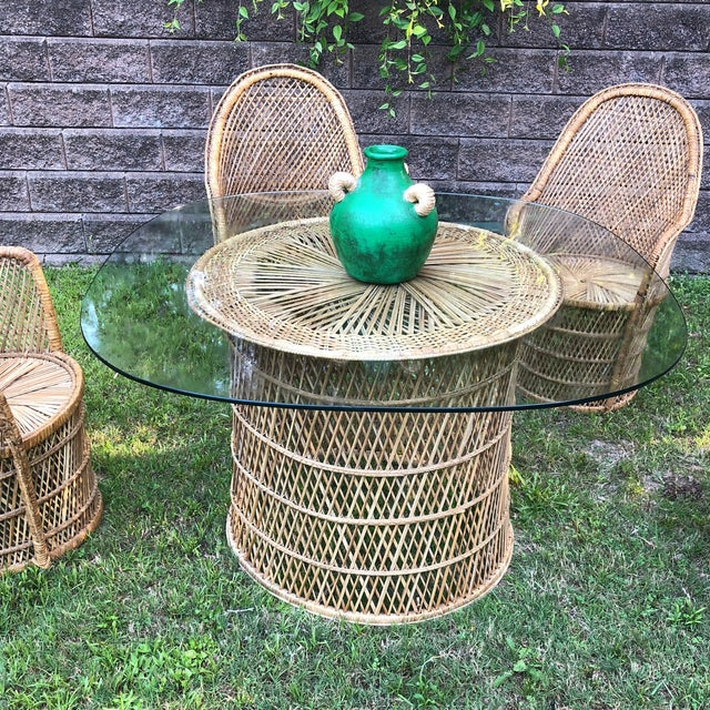 Boho Chic Bohemian Peacock Chair and Table Collection For Sale - Image 3 of 13