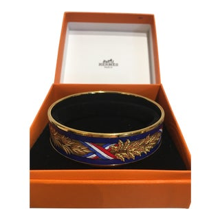 Hermes Bangle in Original Presentation Box. French Flag Motif. For Sale