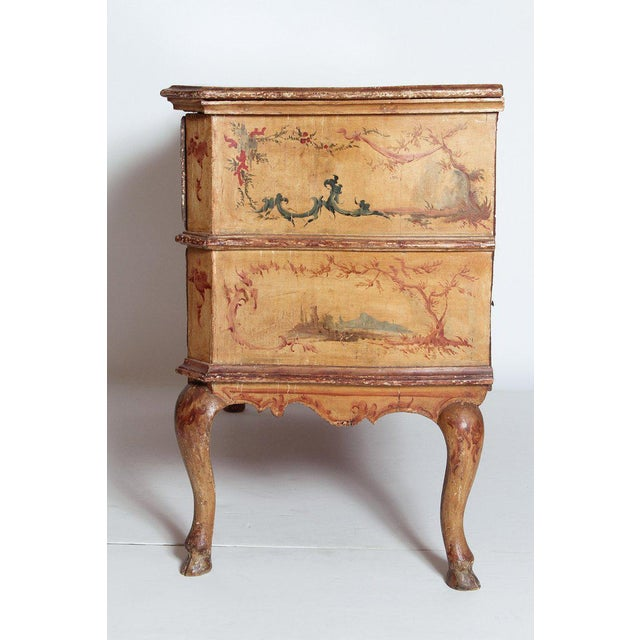 Metal Mid 18th Century Italian Painted Two Drawer Commode For Sale - Image 7 of 13