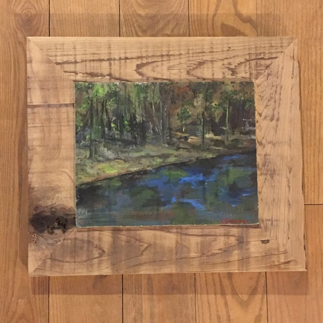 Wood Upstate NY Landscape Painting For Sale - Image 7 of 8