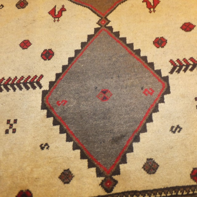 """Persian Gabeh Tribal Rug - 7'5"""" x 5'7"""" For Sale - Image 4 of 5"""