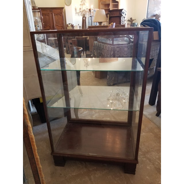 Antique Mahogany Display Case Cabinet For Sale - Image 9 of 9