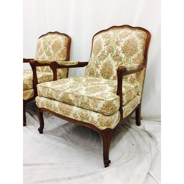 Vintage French Style Arm Chairs - A Pair - Image 5 of 11