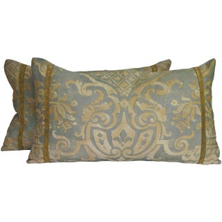 Vintage Fortuny Pillows/Pair by Mary Jane McCarty For Sale