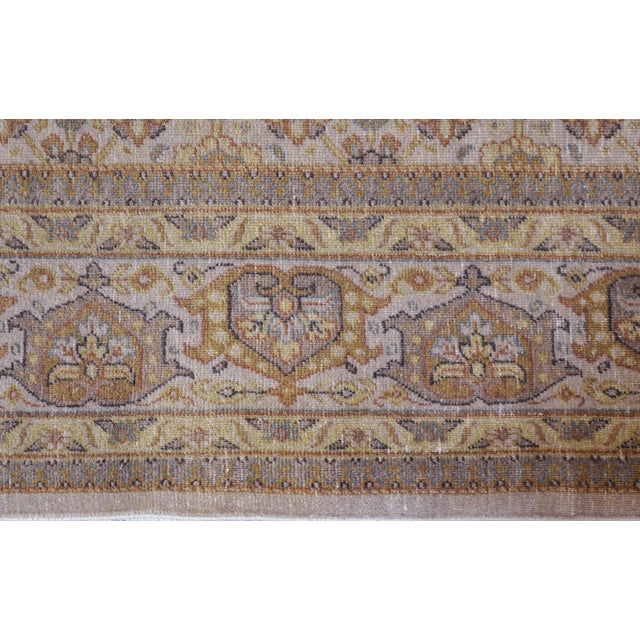"""1990s Mansour Genuine Handwoven Tabriz Rug - 5'10"""" X 8'9"""" For Sale - Image 5 of 5"""