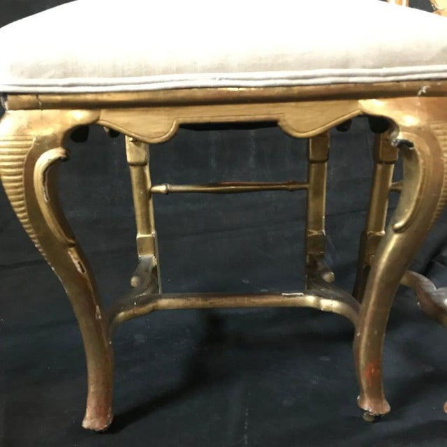 Late 19th Century French Giltwood Chairs- A Pair For Sale - Image 4 of 11