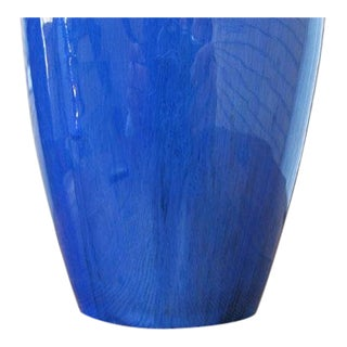 Antique Blue Fulper Vase For Sale