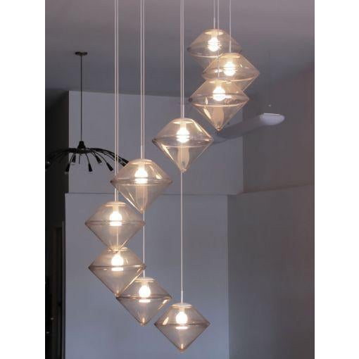 White Monumental Nine Tier Chandelier by RAAK For Sale - Image 8 of 10