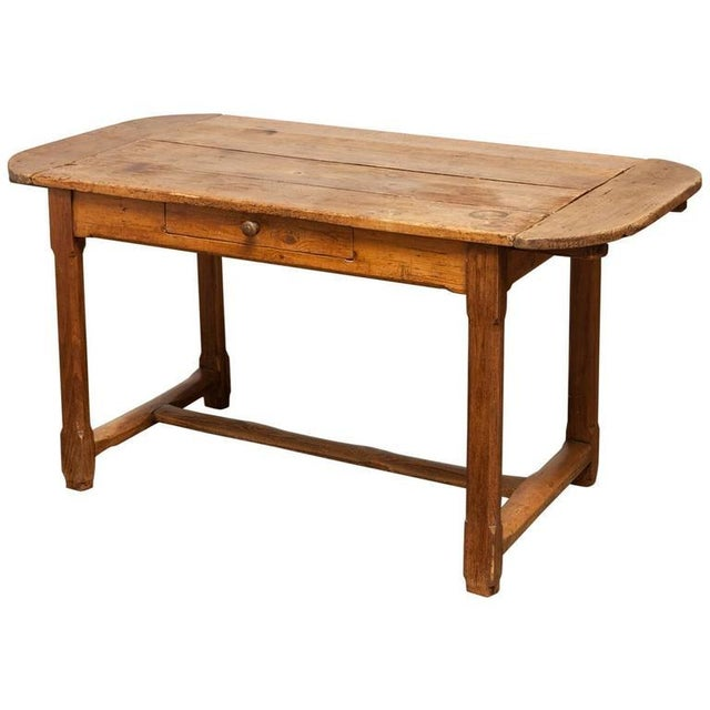 19th Century French Farmhouse Kitchen Table & Leaves - Image 1 of 10
