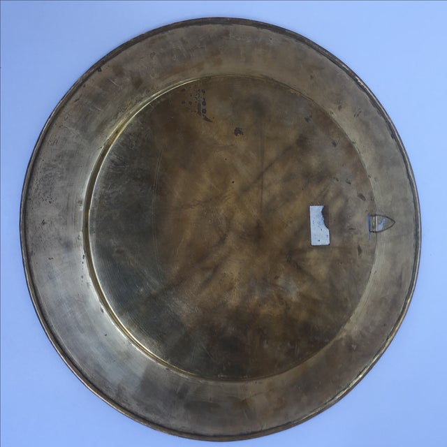 Gold Vintage Indian Gold Plate For Sale - Image 8 of 10
